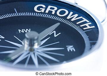groei, woord, kompas