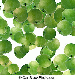 groen appel, achtergrond