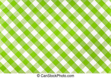 groen tablecloth, gecontroleerde, weefsel