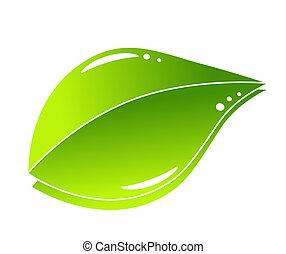 groene, concept, blad, natuur