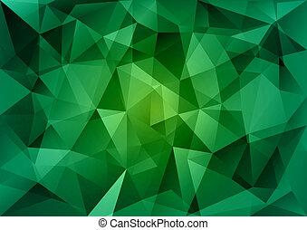 groene, driehoeken