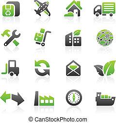 groene, expeditie, iconen