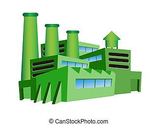 groene, fabriek