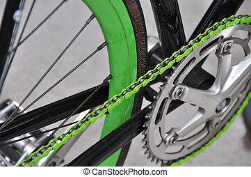 groene, fiets ketting