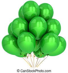 groene, helium, ballons