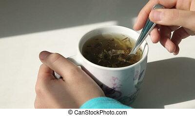 groene, het koken, thee
