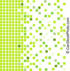 groene, mozaïek, achtergrond