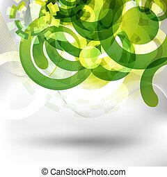groene, ontwerp, futuristisch