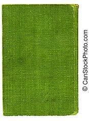 groene, op, burlap, witte , canvas.
