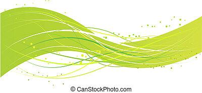 groene samenvatting, ontwerp, golf