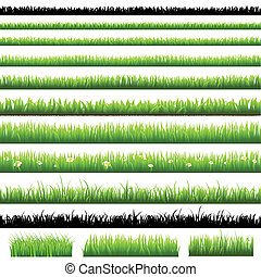 groene, set, gras