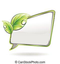 groene, vector, spandoek, leaf.