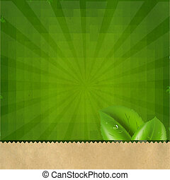 groene, zonnestraal, retro, textuur, achtergrond