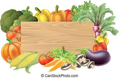 groente, fris, meldingsbord