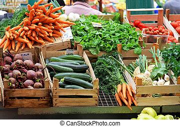 groente, markt