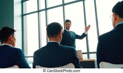 groep, conferentie vergadering, mensen, cursus, zakelijk