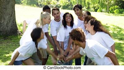 groep, vrijwilligers