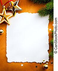 groet, papier, ontwerp, kaart, achtergrond, witte kerst, rood