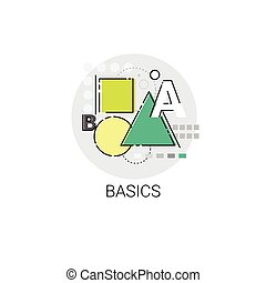 grondbeginselen, kennis, elearning, online, wiskunde, opleiding, pictogram