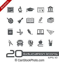 //, grondbeginselen, opleiding, iconen