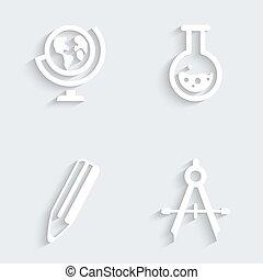 grondbeginselen, opleiding,  , iconen