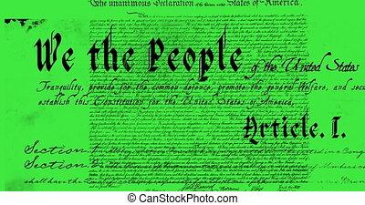 grondwet, geschreven, 4k, verenigde staten