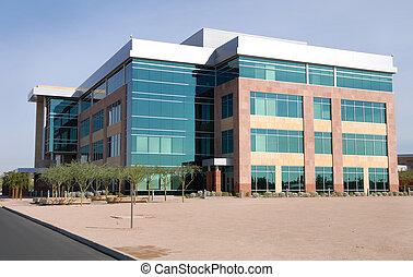 groot gebouw, moderne, kantoor