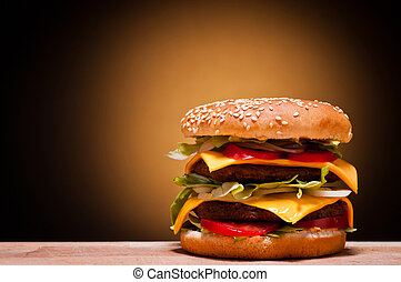 groot, hamburger