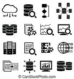 groot, iconen, technologie, data