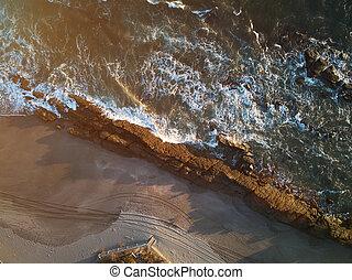 groot, strand rots