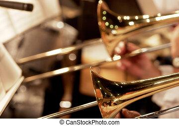 groot, trombones, band
