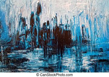 grunge, abstract, -, artistiek, verward, schilderij, achtergrond