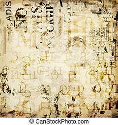 grunge, abstract, gescheurd, oud, achtergrond, affiches