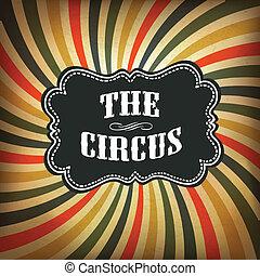 grunge, achtergrond., circus, vector, eps10