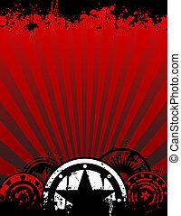 grunge, achtergrond, formaat, poster, a4, brief, of