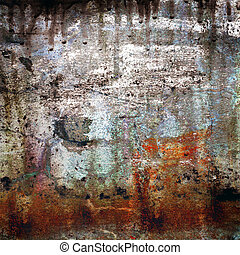 grunge, achtergrond, rusty-colored