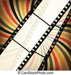 grunge, achtergrond., vector, eps10, bioscoop