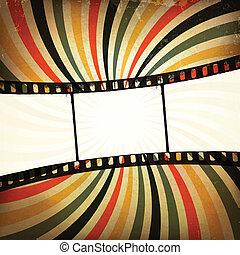 grunge, achtergrond., vector, strook, eps10, film