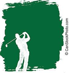 grunge, golf, achtergrond