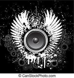 grunge, muziek, achtergrond