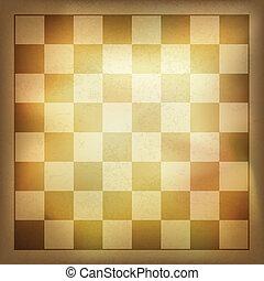 grunge, ouderwetse , achtergrond., vector, schaakspel, eps10
