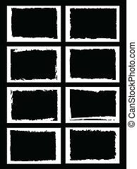 grunge, randjes, beeld, photo., of, lijstjes, vector, format.
