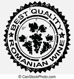 grunge, romanian, postzegel, etiket, kwaliteit, wijntje