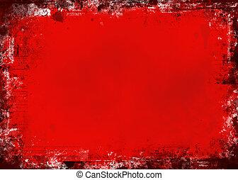 grunge, rood