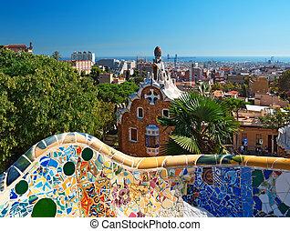 guell, barcelona, -, park, spanje
