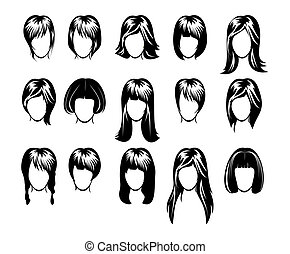 hairstyle, groot, verzameling
