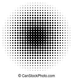 half-tone, punten, monochroom, cirkels, halftone, pattern.