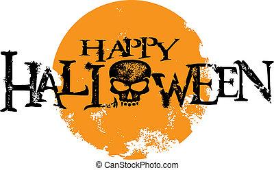 halloween, grafisch, grunge, vrolijke
