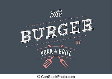 hamburger, bar, logo