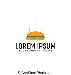 hamburger, conceptontwikkeling, mal, logo